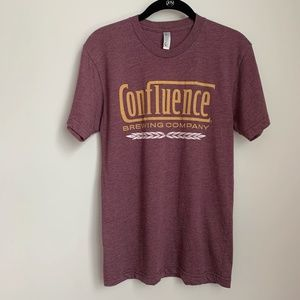 Confluence Brewing Company Maroon T-Shirt A11